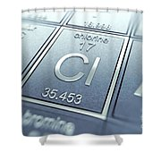 Chlorine Chemical Element Shower Curtain
