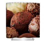 Chocolate Truffles Shower Curtain