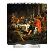 Christ Washing The Apostles' Feet Shower Curtain