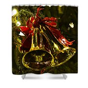 Christmas Bells Ornaments Faneuil Hall Tree Boston Shower Curtain