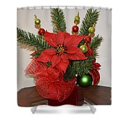 Christmas Centerpiece Shower Curtain