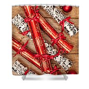 Christmas Crackers Shower Curtain