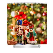 Christmas Figures Shower Curtain