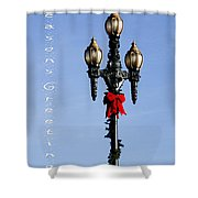 Christmas Lamp Post 2013 Shower Curtain