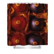 Christmas Ornaments In Box Shower Curtain