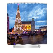 Christmas Time In Warsaw Shower Curtain