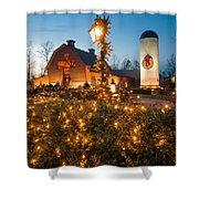 Christmas Village Decorations Shower Curtain