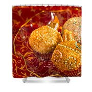 Christmasball Cupcakes Shower Curtain