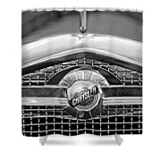 Chrysler Grille Emblem Shower Curtain