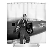 Chuck Yeager And Bell X-1 Shower Curtain