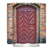 Church Door 02 Shower Curtain by Antony McAulay