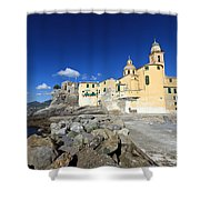 church in Camogli Shower Curtain