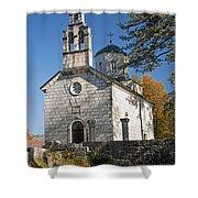 Church In Cetinje Montenegro Shower Curtain