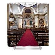 Church Of Santa Barbara Interior In Madrid Shower Curtain