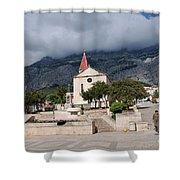 Church Of St.mark Makarska Shower Curtain