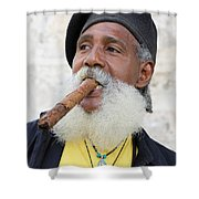 Cigar Man Shower Curtain