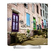 Cincinnati Glencoe-auburn Row Houses Picture Shower Curtain