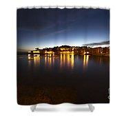 Cinque Terre At Night Shower Curtain