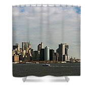 City At The Waterfront, New York City Shower Curtain