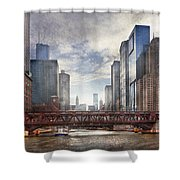 City - Chicago Il - Looking Toward The Future Shower Curtain