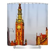 City Hall In Gdansk Shower Curtain