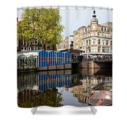 City Of Amsterdam Cityscape Shower Curtain
