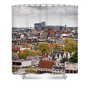 City Of Amsterdam From Above Shower Curtain