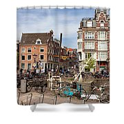 City Of Amsterdam In Netherlands Shower Curtain