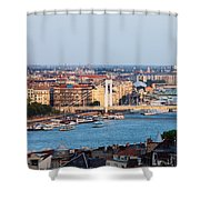 City Of Budapest At Sunset Shower Curtain
