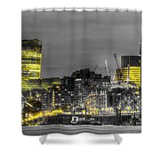 City Of London At Night Shower Curtain