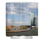 City Of Rotterdam In Netherlands Shower Curtain