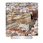 City Of Seville Cityscape In Spain Shower Curtain