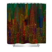 Cityscape 5 Shower Curtain by Jack Zulli