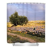 Cityscape Of Fes In Morocco Shower Curtain