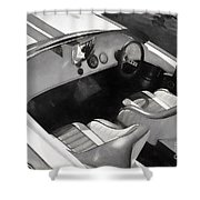 Classic Boat In Black And White Shower Curtain
