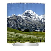 Classic Swiss Alps Shower Curtain