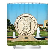 Classical Image Of The Texas Tech University Seal  Shower Curtain