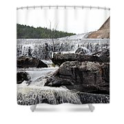 Clayton Lake Spillway Shower Curtain