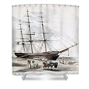 Clipper Flying Cloud, 1851 Shower Curtain