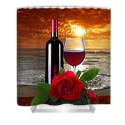 Closing Time Shower Curtain by Manfred Lutzius