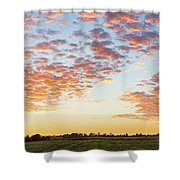 Clouds Over Landscape At Sunset Shower Curtain