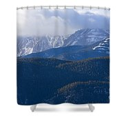Cloudy Peak Shower Curtain