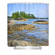 Coast Of Pacific Ocean On Vancouver Island Shower Curtain by Elena Elisseeva