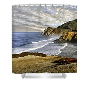Coastal Beauty Impasto Shower Curtain