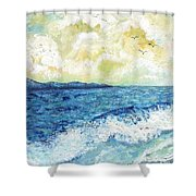 Coastal Clouds Shower Curtain