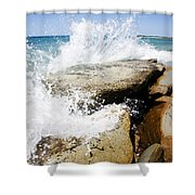 Coastal Collision Shower Curtain