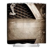 Cobra Grille Emblem Shower Curtain