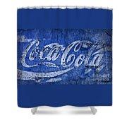 Coca Cola Blues Shower Curtain