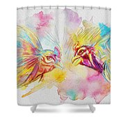 Cock Fighting Shower Curtain by Catf