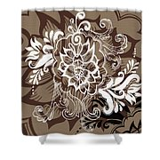 Coffee Flowers 10 Shower Curtain